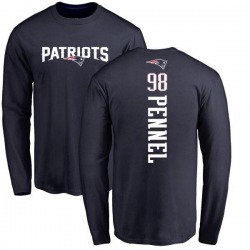 Youth Mike Pennel New England Patriots Backer Long Sleeve T-Shirt - Navy