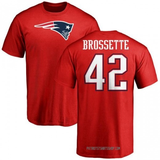 Youth Nick Brossette New England Patriots Name & Number Logo T-Shirt - Red
