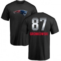 Youth Rob Gronkowski New England Patriots Midnight Mascot T-Shirt - Black