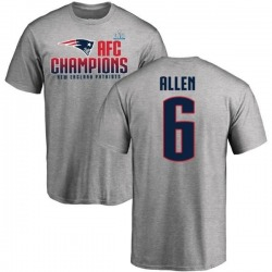 Youth Ryan Allen New England Patriots 2017 AFC Champions T-Shirt - Heathered Gray