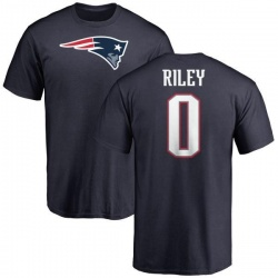 Youth Sean Riley New England Patriots Name & Number Logo T-Shirt - Navy