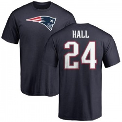 Youth Terez Hall New England Patriots Name & Number Logo T-Shirt - Navy