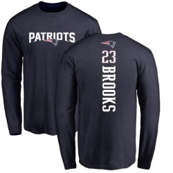 Youth Terrence Brooks New England Patriots Backer Long Sleeve T-Shirt - Navy
