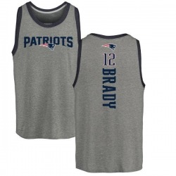 Youth Tom Brady New England Patriots Backer Tri-Blend Tank Top - Ash