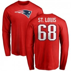 Youth Tyree St. Louis New England Patriots Name & Number Logo Long Sleeve T-Shirt - Red