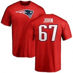 Youth Ulrick John New England Patriots Name & Number Logo T-Shirt - Red